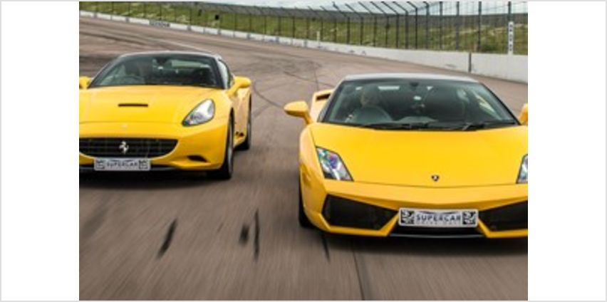 Double Supercar Driving Blast with Free High Speed Passenger Ride from Buy A Gift