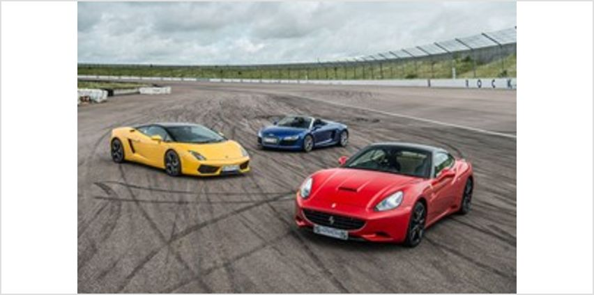 Triple Supercar Driving Blast with Free High Speed Passenger Ride - Week Round from Buy A Gift