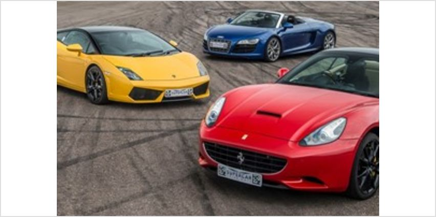 Triple Supercar Driving Blast with Free High Speed Passenger Ride from Buy A Gift