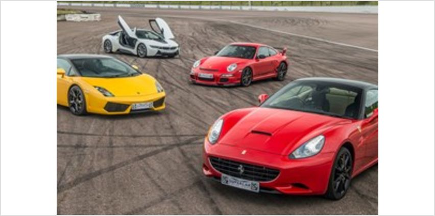 Four Supercar Driving Blast with Free High Speed Passenger Ride from Buy A Gift