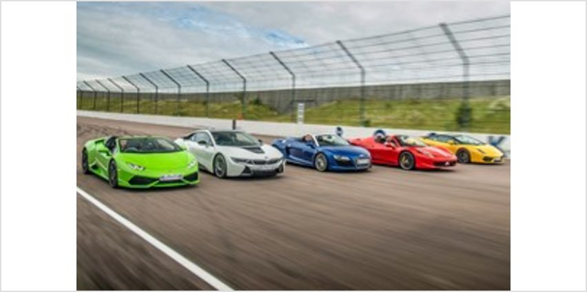 Five Supercar Driving Blast with Free High Speed Passenger Ride from Buy A Gift