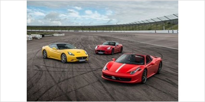 Triple Supercar Thrill with Free High Speed Passenger Ride - Week Round from Buy A Gift