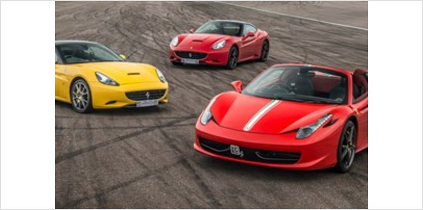 Triple Supercar Thrill with Free High Speed Passenger Ride from Buy A Gift