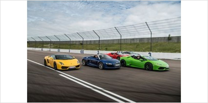 Four Supercar Thrill with Free High Speed Passenger Ride - Week Round from Buy A Gift