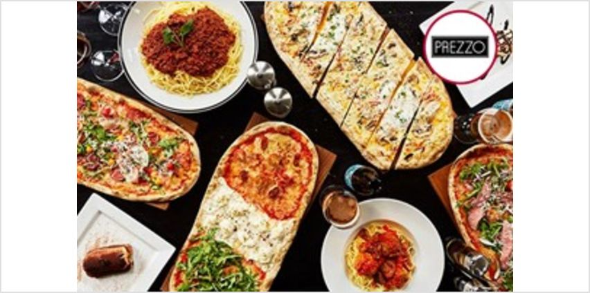 Three Course Meal with Bottle of Wine for Two at Prezzo from Buy A Gift