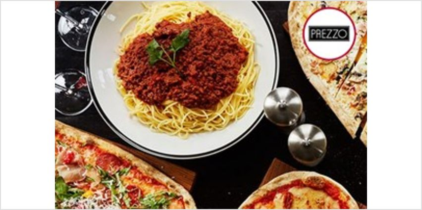 Three Course Meal with Glass of Wine for Two at Prezzo from Buy A Gift