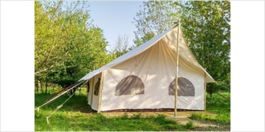 One Night Stay in Canvas Lodge with Hot Tub and Fizz at Woodland Escape from Buy A Gift