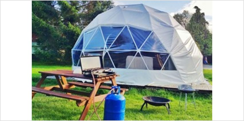 One Night Glamping Break with Bottle of Fizz for Two in Dome, Yurt or Bell Tent from Buy A Gift