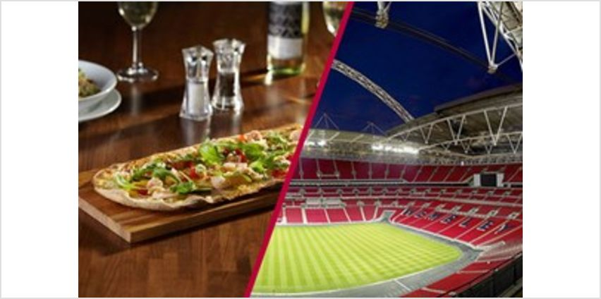 Wembley Stadium Tour with 3 Course Meal and Glass of Wine at Prezzo for Two from Buy A Gift