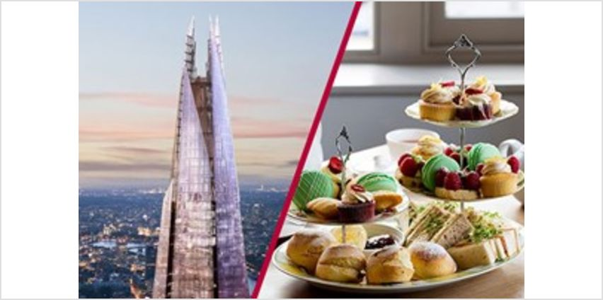 The View from The Shard with Luxury Afternoon Tea for Two from Buy A Gift
