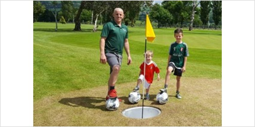 Entry to Foot Golf at North Wales Golf Course for Two Adults - Kids Go Free from Buy A Gift