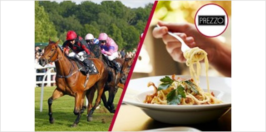Lingfield Raceday and Three Course Meal with Wine for Two at Prezzo from Buy A Gift