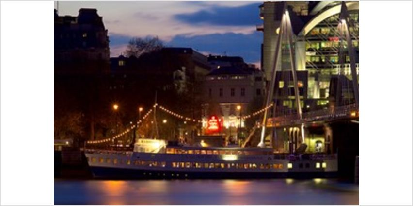 3 Course Meal with prosecco aboard RS Hispaniola and Sightseeing Cruise for Two from Buy A Gift