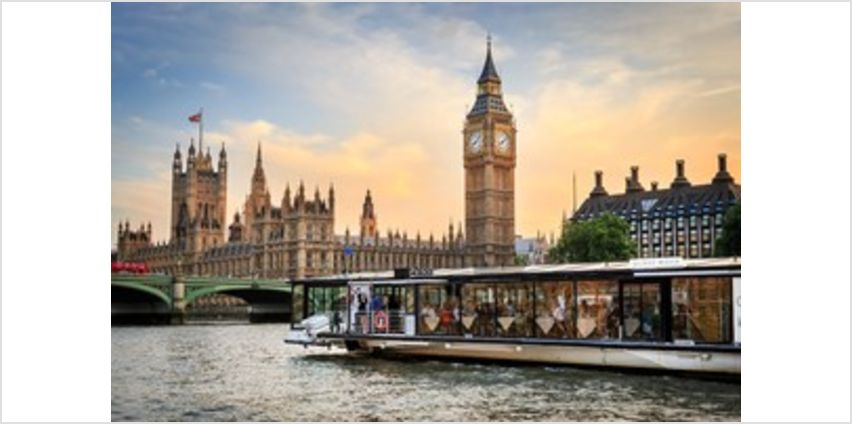 Bateaux Three Course Lunch Cruise with a bottle of Wine on the Thames for Two from Buy A Gift