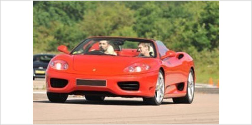 Ferrari Driving Thrill with Passenger Ride from Buy A Gift