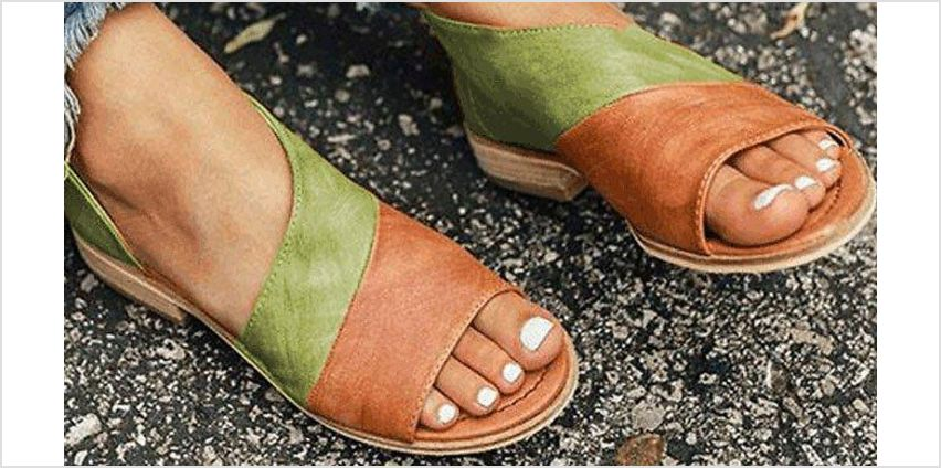 Peep-Toe Ankle Sandals - 7 Colours & 5 Sizes from GoGroopie