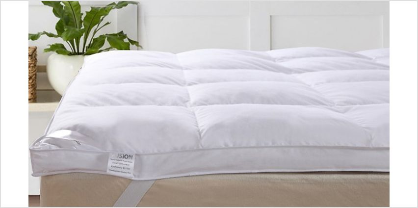 Luxury 5cm Goose Feather & Down Topper - 4 Sizes from GoGroopie