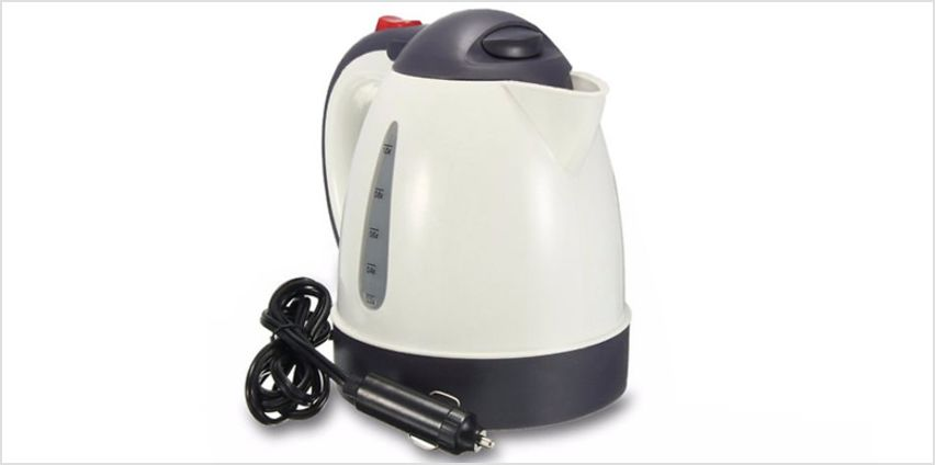 12V Portable Electric Kettle - Plugs Into Your Car! from GoGroopie