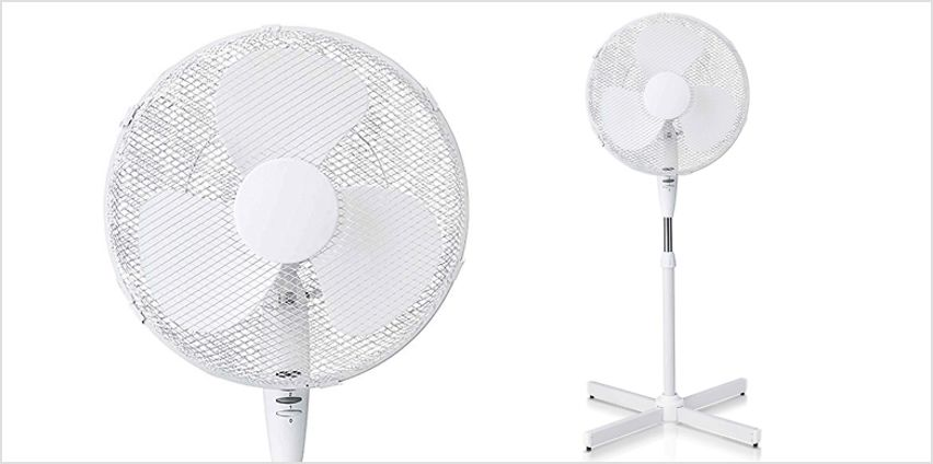 Express Delivery! 16-Inch Oscillating 3-Speed Pedestal Fan from GoGroopie