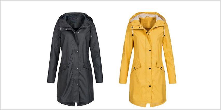 Waterproof Long Raincoat - 5 Colours & 6 Sizes from GoGroopie