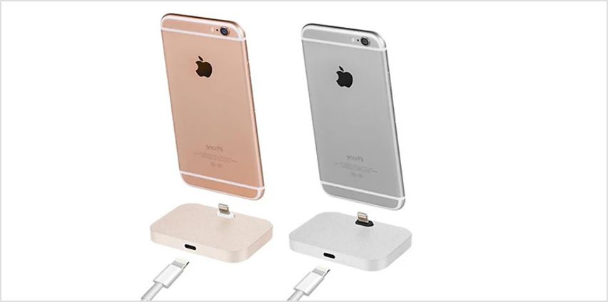 1 or 2 Aluminium iPhone Charging Docks - 4 Colours from GoGroopie