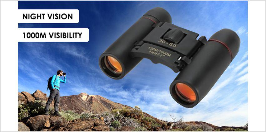 Day & Night Vision Folding Binoculars - 1000m Range! from GoGroopie