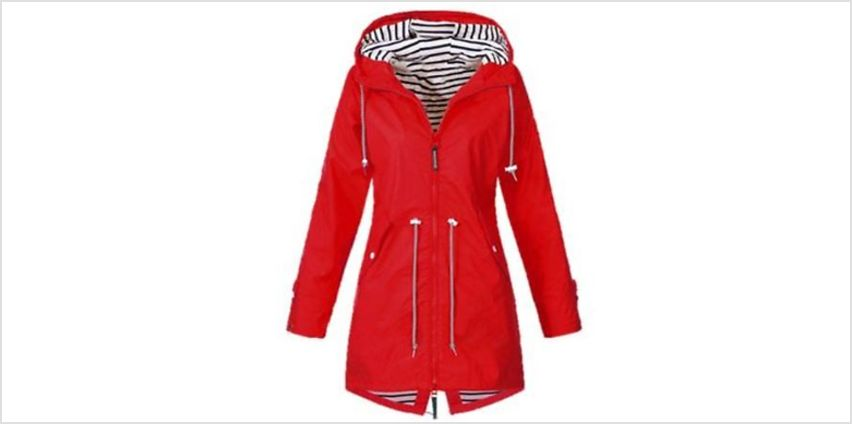 Women's Waterproof Raincoat - 5 Colours & UK Sizes 12-18 from GoGroopie