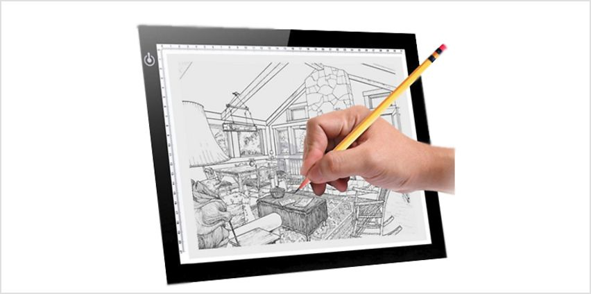 A4 Light-Up Tracing and Drawing Pad from GoGroopie