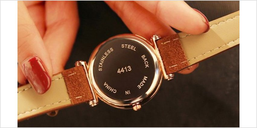 Women's PU Leather Quartz Watch - 5 Colours from GoGroopie