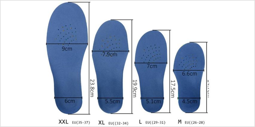 Sole Control Pro Orthotic Full-Length Insoles - 3 Colours & 5 Sizes from GoGroopie