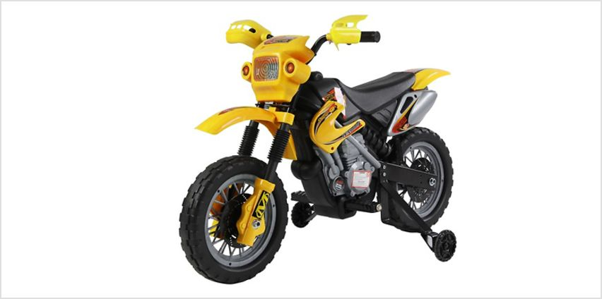Kids' Electric Motorcycle - Red, Green or Yellow from GoGroopie