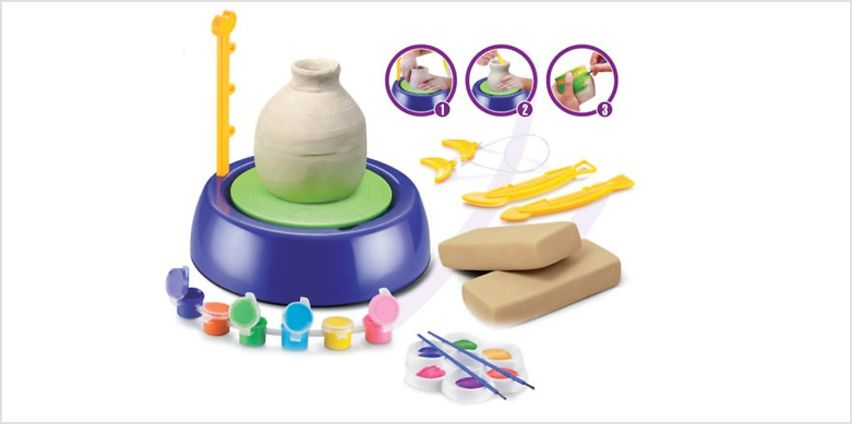 Junior Pottery Kit with Clay & Tools from GoGroopie
