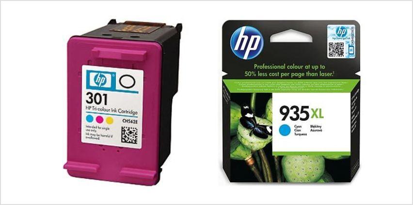 HP Black & Tri-Colour Ink Cartridge Bundles - 14 Options from GoGroopie