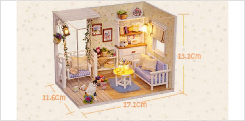DIY Miniature Doll House With LED Lighting from GoGroopie