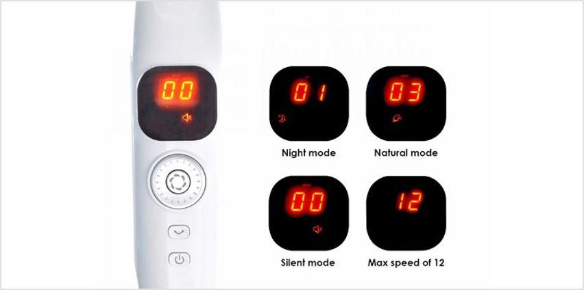 12 Speed Oscillating Quiet Pedestal Fans - 2 Designs from GoGroopie