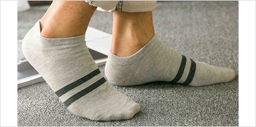 30 Pairs of Men's Assorted Low Cut Socks from GoGroopie