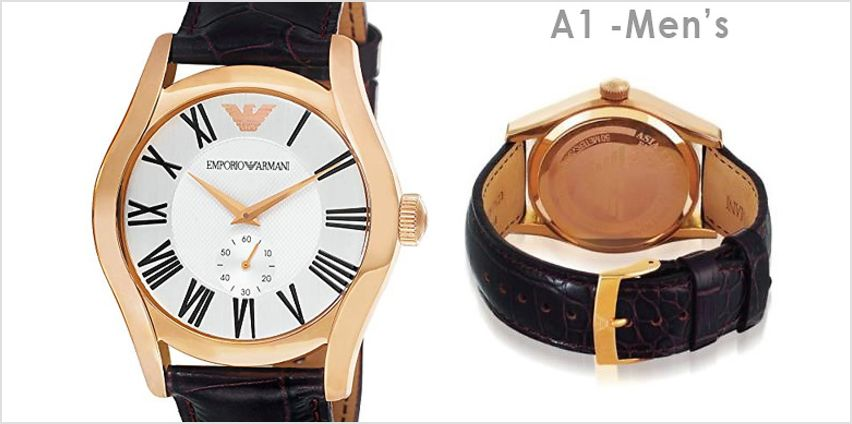 His & Hers Emporio Armani Watches - 4 Styles from GoGroopie