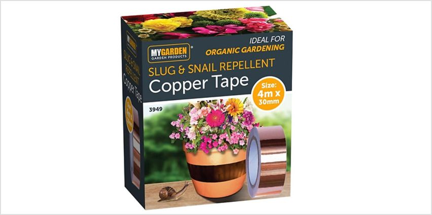 4m Slug and Snail Repellent Copper Tape from GoGroopie