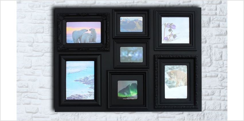 7-Picture Large Rectangular Frame: 2 Colours from GoGroopie