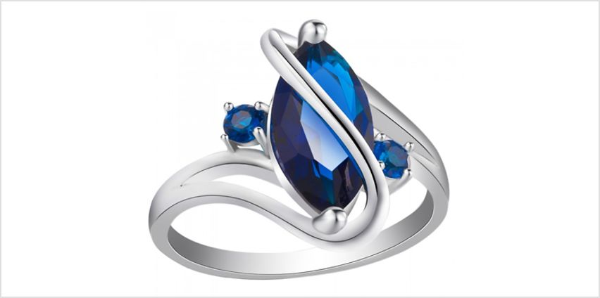2.5ct Marquise Cut Simulated Sapphire Ring from GoGroopie