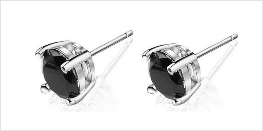 Crystal Stud Earrings; 2 Colours from GoGroopie