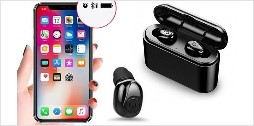 X8 Wireless Bluetooth Earbuds With Charging Box - Black or White from GoGroopie