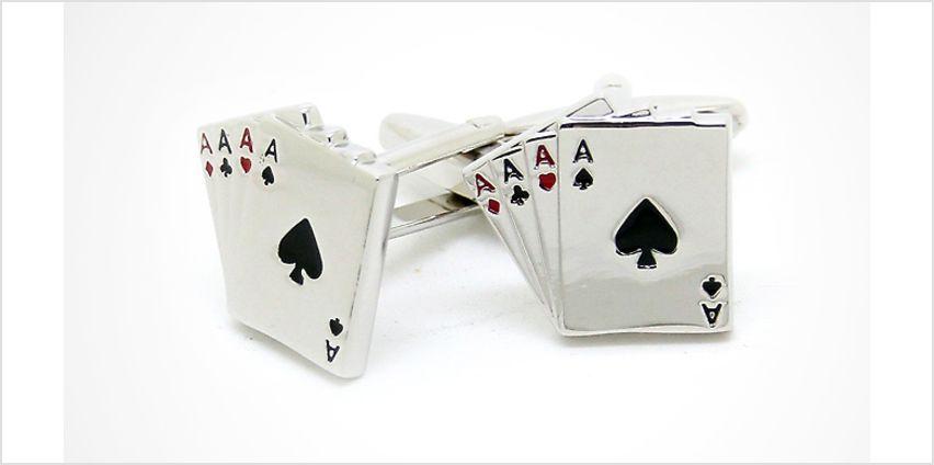 Gents' Poker Cufflinks from GoGroopie