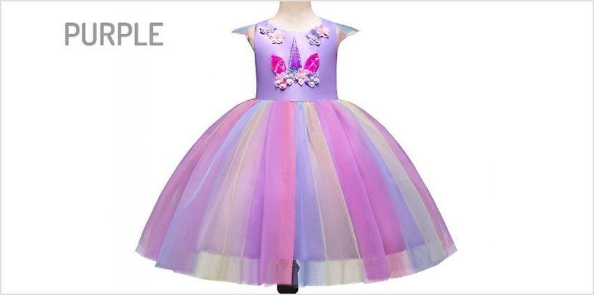 Unicorn Christmas Princess Dress - 3 Colours from GoGroopie