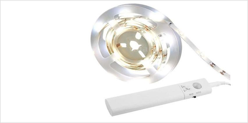 Warm or White LED Motion Sensor Strip Lighting - 1m, 2m or 3m from GoGroopie