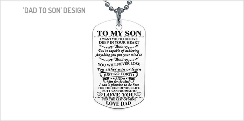 'To My Son' And 'To My Daughter' Necklace - 4 Designs from GoGroopie