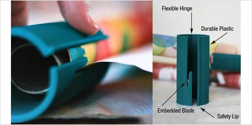 Handheld Wrapping Paper Cutter from GoGroopie