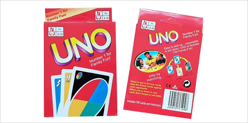 108 UNO Playing Cards from GoGroopie