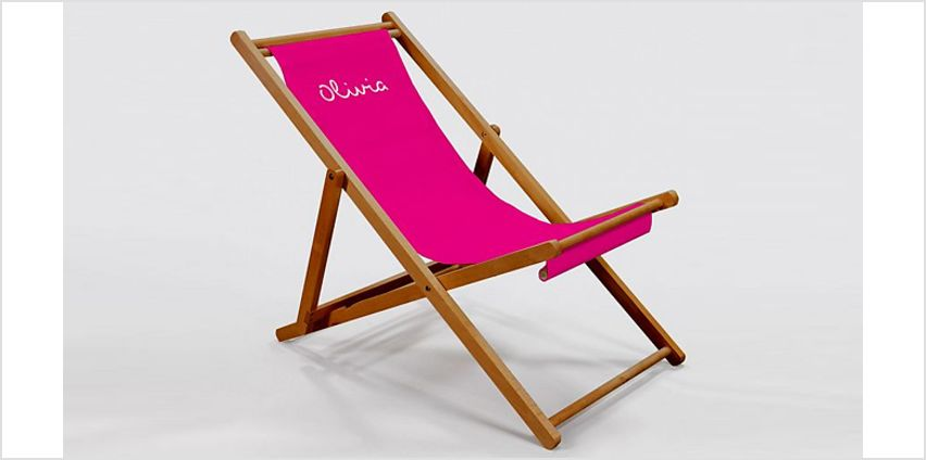 Personalised Deck Chair - 4 Colours - Stick Your Name On It! from GoGroopie