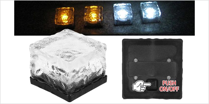 Solar Powered LED Ice Cube Light - 6 Colours from GoGroopie